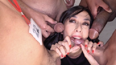 Ashely Ocean swallowing 32 blowbang loads