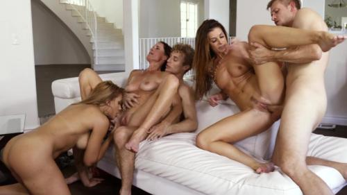 Hot Cougars Gets Banged Hard On Couch