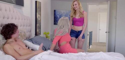 ALEXA GRACE & NINA ELLE – Hot Mom Caught Jerking Off Step Son