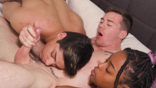 Ripped Jock Slams Jacob Booker's Bubble Butt With His Long Cock - Gets Pegged By Sexy Ebony Teen