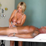 WIFEYS WORLD – Busty MILF Works Cock Under The Milking Table