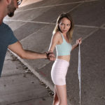 ANGEL SMALLS – Cum hungry babe Angel Smalls is begging for money by the side of the road when her stepbrother Logan Long drives by. He gets her in the car and offers her money if she's that hard up. He'll let her keep his wallet in exchange for a blowjob. Once she sees how big Logan's dick is, she's happy to start sucking him off while her hand strokes the base of his hardon! Instead of cumming in Angel's mouth, Logan suggests that they go inside and finish what they've started. Angel leads him to her bedroom, then bends over the bed so he can lift her miniskirt and take her from behind. Turning over so she can watch Logan fuck her, Angel shows off her boobs for the promise of more cash. When Logan asks her to ride his fuck stick, Angel is happy to do it for a price. Her hips move in a sinuous rhythm as she does whatever it takes to make herself cum. Then she drops to her belly beside Logan and strokes his stiffie while sucking the tip until he explodes on her face and gives her a mouthful of cum to play with. Only then does he let her know she's not getting his wallet after all