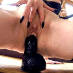 KATIE DAVIES – Home alone and dressed to kill, so what better way to while away the afternoon than a deliciously decadent wank session in My conservatory - complete with a favourite big black dildo! I do hope the gardener was not too distracted while trimming My bushes!
