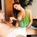 RACHEL STARR – Rachel Starr is worried about her neighbor Manuel. He hasn't left his house ever since his girlfriend left him, but Rachel wants him to know there are other fish in the sea ... and some of them have amazing asses and are great at sucking cock!