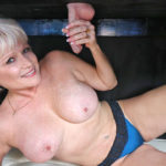 NIKKI SIXXX – Give MILF Nikki Sixxx a big cock to milk and suck and she'll be one happy camper but what this older blonde babe with big tits really craves is to have her face a tits blasted with warm white semen from the milking table